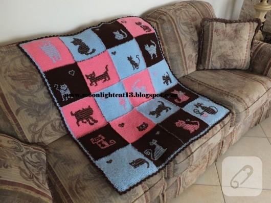 orgu-modelleri-kedi-motifli-battaniye-