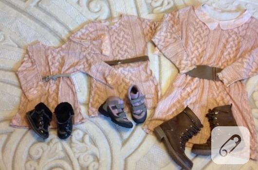 triko-elbise-modelleri-anne-kiz-kombinleri