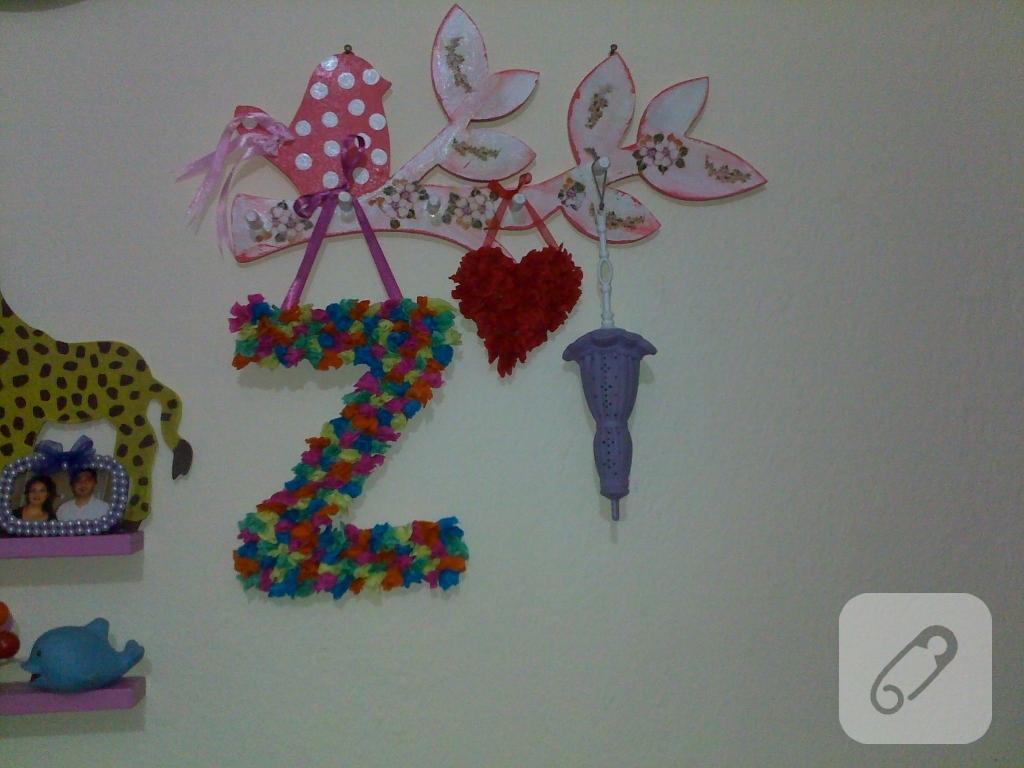 Çocuk Odası için Örgü Duvar Süsü Yapımı
