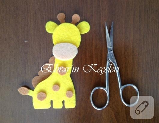 Amigurumi Zürafa Yapımı : Keçeden zürafa yapımı marifet