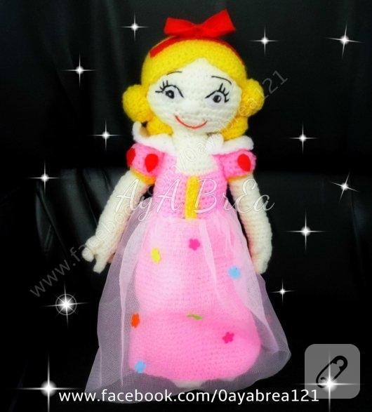 amigurumi-pembe-elbiseli-prenses-bebek-orgu-oyuncaklar