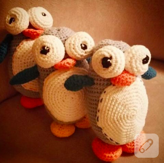 amigurumi-sevimli-orgu-penguen-oyuncaklar