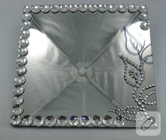 Kristal Taşlarla Ayna Süsleme 10marifetorg
