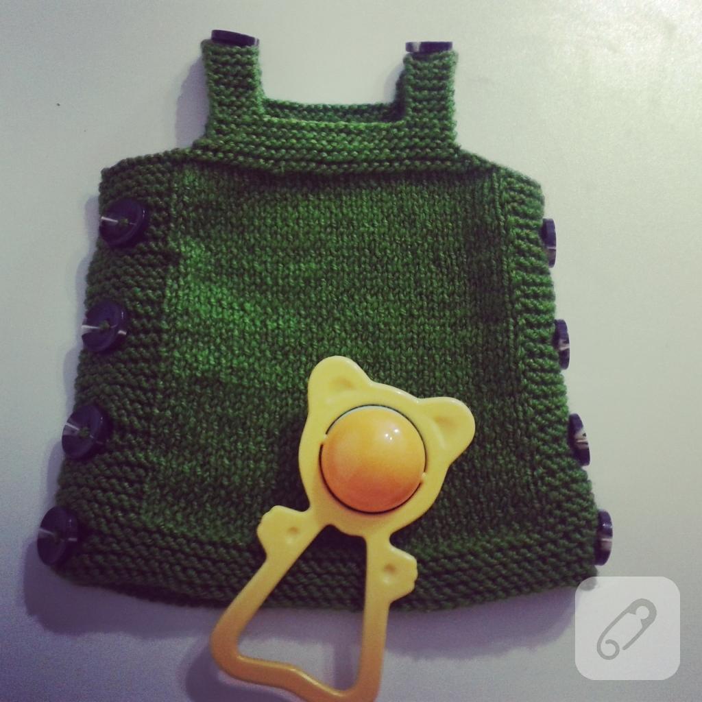 Küçük Kutucuklar Bebek Yeleği Yapımı