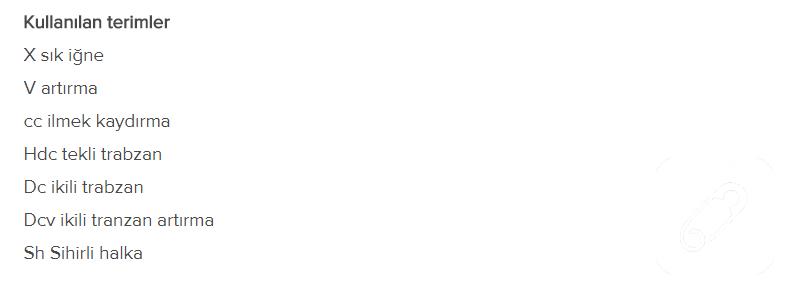 Diyagram, Sembol ve Temel Tığ Örgü Kısaltmaları - Mimuu.com   285x799