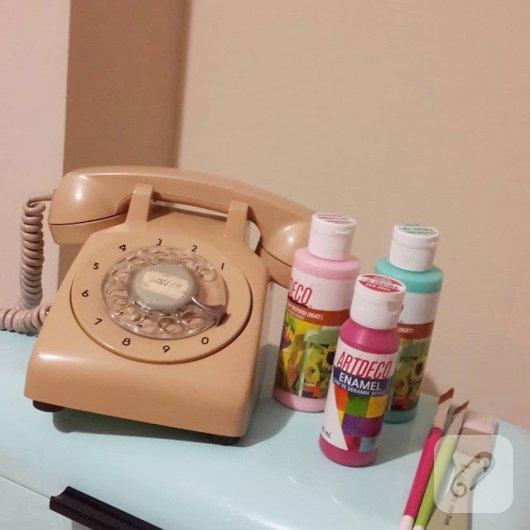 eski-vintage-telefon-boyama-nasil-yapilir