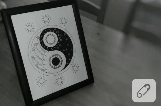 siyah-beyaz-yinyang-cizim-cerceve