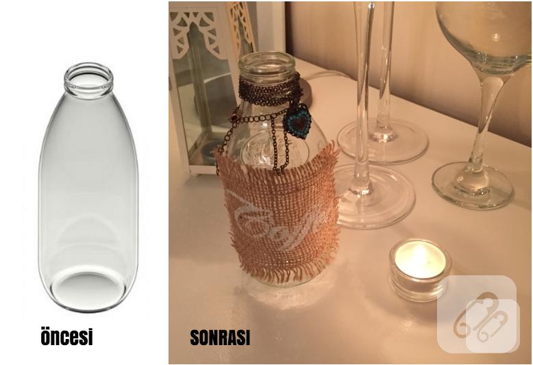 Süt şişesinden Dekoratif şişe Nasıl Yapılır 10marifetorg