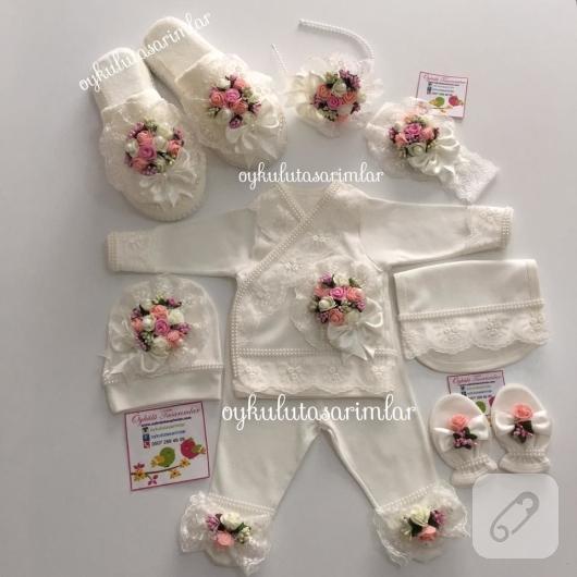 cicekli-anne-bebek-hastane-cikisi-lohusa-seti