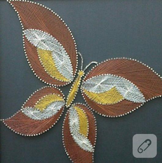 civi-sanat,-filografi-ile-kelebekli-duvar-panosu