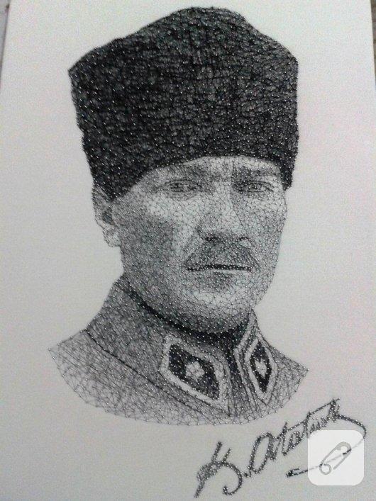filografi-ornekleri-el-yapimi-ataturk-portresi