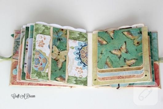 yesil-mavi-kelebekli-kisiye-ozel-scrapbook-album-ici