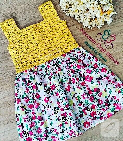 Muhteşem Bir Kız Çocuk Elbisesi