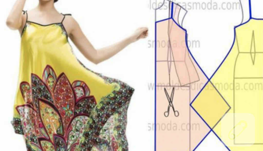 Eşarptan Nasıl Tarz Bir Yazlık Elbise Yapılır 68