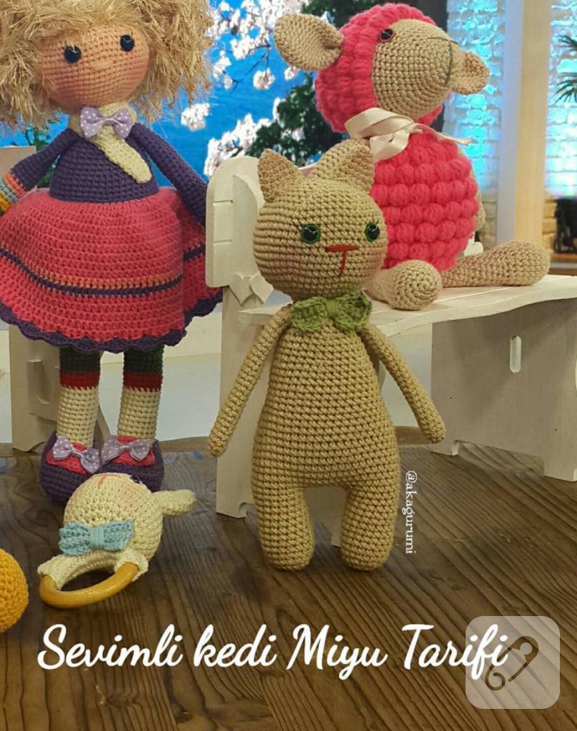 Amigurumi Kedi Tarifi : Amigurumi ?rg? oyuncak kedi tarifi - 10marifet.org