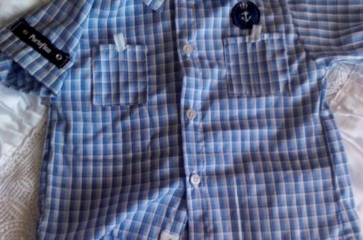 Erkek bebek gömleği
