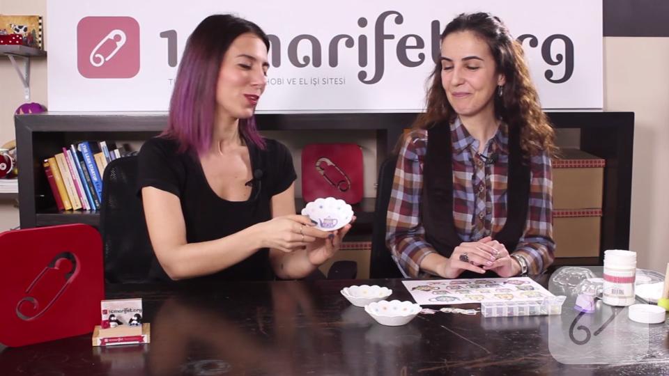 Video: Cam boyama tabak üzerine dekupaj nasıl yapılır?