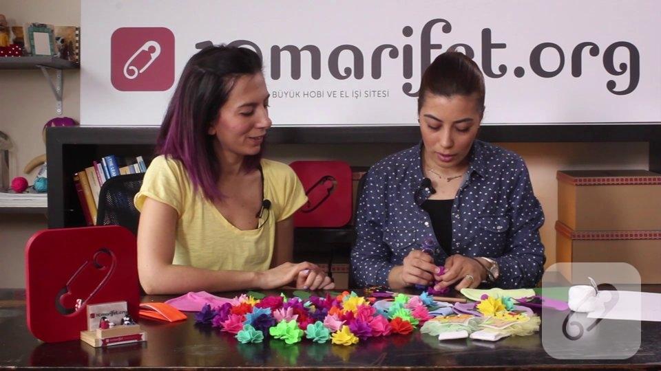 Video: Keçe çiçek yapımı ve bere süsleme