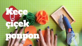 Video: Keçe çiçek ponpon nasıl yapılır?