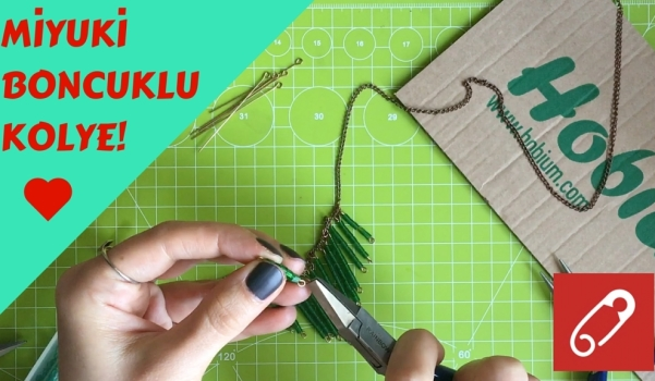 Video: Miyuki boncuklardan zincirli kolye nasıl yapılır?