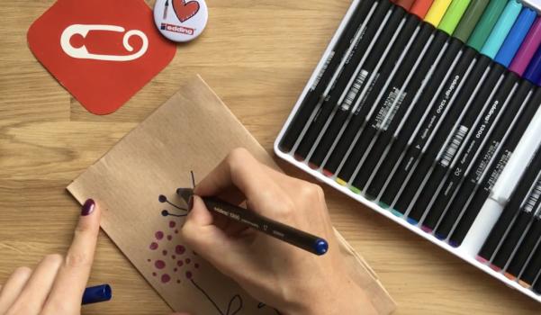 Video: edding keçeli kalemler ile hediye paketi süsleme