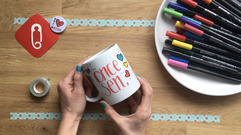 Porselen Kalemi Ile Sevgililer Günü Hediyesi Kupa 10marifetorgda