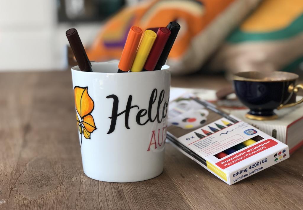 Hobi Kalemleri Ile Sonbahar Temalı Kupa Nasıl Boyanır Videolu